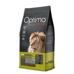 Optima Nova Cat Adult Hairball (Курица, рис)