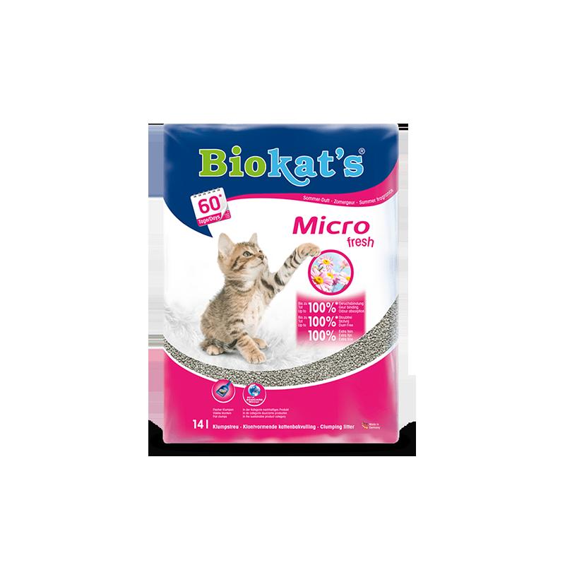 Biokat′s Micro fresh комкующийся с ароматом цветов и цитруса