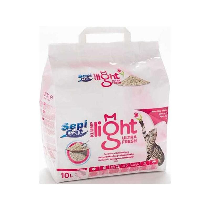 Наполнитель ультракомкующийся SepiCat Klump Light Ultra Fresh