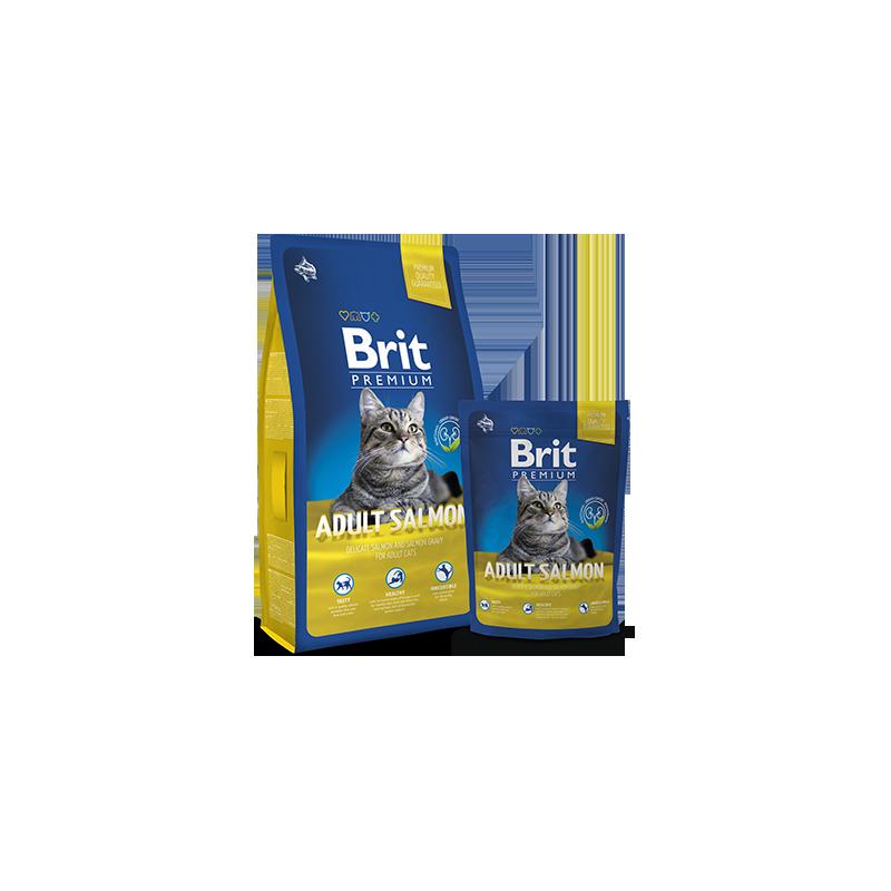 Brit Premium Cat Adult (Лосось)